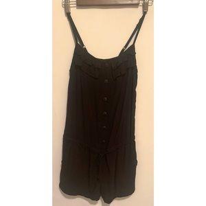 Xhiliration size XS black shorts romper